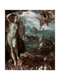 Perseus Rescuing Andromeda, 1611 Giclée-tryk af Joachim Wtewael