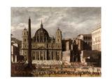 Saint Peter's Basilica, Rome, Ca. 1630 Giclee Print by Viviano Codazzi