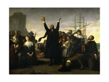 The Arrival of the Pilgrim Fathers, 1863 Giclee Print by Antonio Gisbert