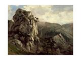 Rocks (Puerto De Pajares), Ca. 1874 Giclee Print by Carlos de Haes