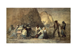 The Meal of the Harvesters Giclée-tryk af Jean-François Millet
