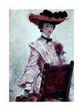 La Dama Del Sombrero Rojo Giclee Print by Cecilio Pla