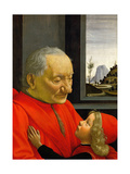 An Old Man and His Grandson Giclee Print by Domenico Ghirlandaio