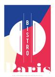 Le Bistro de Paris Posters par Antoine Tesquier Tedeschi