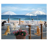 Beach Club Tails Prints by Carol Saxe