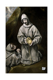 Saint Francis of Assisi and Brother Leo Meditating on Death, 1600-14 Giclee Print by  El Greco