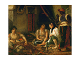 The Women of Algiers (In their Apartment), 1834 Giclee Print by Eugene Delacroix