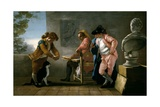 Drawing Study. Boys Playing with a Cat, or the Painters Studio, 1780 Giclee Print by Jose Del castillo