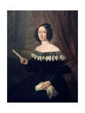 Portrait of Pilar De Jandiola, Doña Pilar De Jandiola Giclee Print by Antonio Maria Esquivel