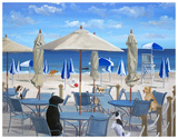 Beach Club Tails II Poster by Carol Saxe