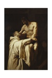 Christ Embracing Saint Bernard, Ca. 1626 Giclee Print by Francisco Ribalta