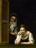 Women from Galicia at the Window, 1655-1660 Giclée-tryk af Bartolome Esteban Murillo