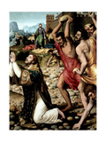 The Martyrdom of Saint Stephen, Ca. 1562 Giclee Print by Juan De juanes