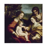 The Mystic Marriage of St. Catherine of Alexandria, 1525-1526 Giclee Print by Antonio Da Correggio
