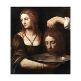 Salome Receiving the Head of John the Baptist, 16th Century Giclee Print by Bernardino Luini