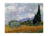 Wheatfield with Cypresses, 1889 Giclee Print by Vincent van Gogh