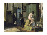 The Untimely Visit, Ca. 1868 Giclee Print by Eduardo Zamacois y Zabala