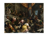 The Traders Cast Out of the Temple, Ca. 1585 Giclee Print by Francesco Bassano the younger