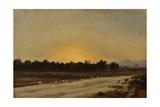 Sunset (Elche) Giclee Print by Carlos de Haes