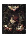 Garland with the Virgin and Child Giclee Print by Daniel Seghers