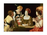 The Cheater with the Ace of Diamonds Giclee Print by Georges de La Tour