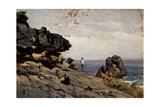 Lekeitio Beach, Ca. 1872 Giclee Print by Carlos de Haes