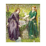 Dantes Vision of Rachel and Leah, 1855 Giclee Print by Dante Gabriel Rossetti