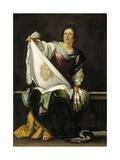 Saint Veronica, 1620-1625 Lámina giclée por Bernardo Strozzi