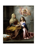 Saint Anne with the Virgin, Ca. 1655 Giclee Print by Bartolome Esteban Murillo