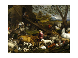 The Animals Entering the Arc, Ca. 1570 Giclee Print by Jacopo Bassano