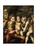 Madonna and Child with Saints, Ca. 1524 Gicleetryck av Parmigianino,