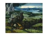 Landscape with Saint Jerome, 1516-1517 Giclee Print by Joachim Patenir