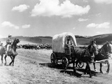A Caravan in the Outcast Photographic Print
