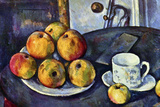 Paul Cezanne Still Life with a Bottle and Apple Cart Poster Print
