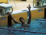 Mark Spitz Exults in a Victory Photographic Print
