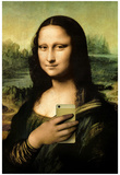 Mona Lisa Selfie Portrait Prints