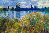 Claude Monet Seine Shores at Vetheuil Print