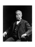 George Westinghouse Sitting in a Small Armchair Photographic Print