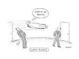 """Watch ya back."" - New Yorker Cartoon Premium Giclee Print by Robert Mankoff"