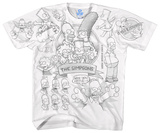 The Simpsons - Simpsons Sketch Shirts