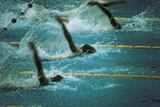 A Swimming Competition at the Munich Olympic Games Photographic Print
