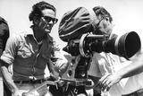 Pier Paolo Pasolini with a Camera Lámina fotográfica