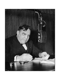 The Mayor of New York at the Microphone of American Radio Photographic Print
