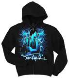 Zip Hoodie: Jimi Hendrix - Blue Wild Angel T-Shirt