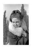 Gigliola Cinquetti with a Coat Photographic Print