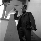 Arturo Benedetti Michelangeli on the Stairs at His Home Near Lugano Photographic Print