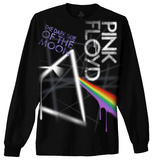 Long Sleeve: Pink Floyd - Dark Side Graffiti T-shirt a maniche lunghe
