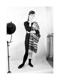 Giorgia Moll with Her Arm Around Her Waist Photographic Print