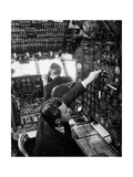 Pilot in a Cockpit Photographic Print