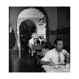 Dinner at the Trattoria Photographic Print